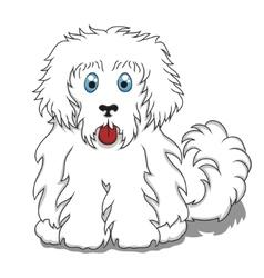 Cute Fluffy Cartoon Dog vector image vector image