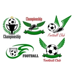 Football and soccer game icons vector image