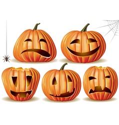 Halloween pumpkin set vector