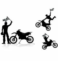 Motocross rider vector
