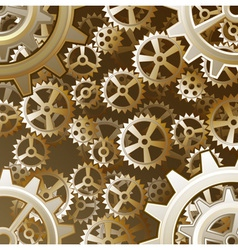 Steampunk gears background vector image