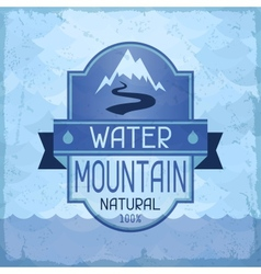 Water mountain background in retro style vector image vector image