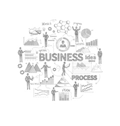 Business concept sketch vector