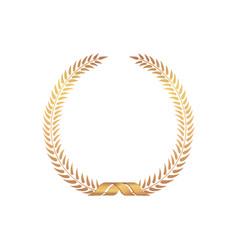 golden award frame winner sign laurel wreath vector image