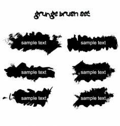 grunge brush set vector image vector image