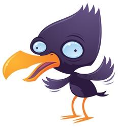 wacky squawking bird vector image