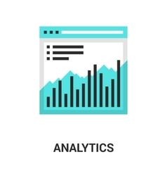 analytics icon concept vector image