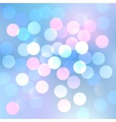 Blue bokeh lights vector