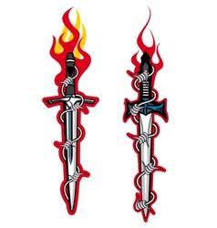 Dagger tattoo vector image