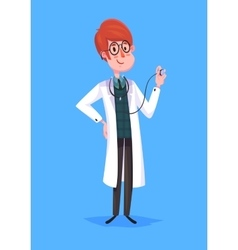 Funny doctor character Isolated vector image