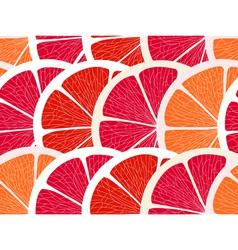 Grapefruit segments seamless background vector image