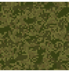 Green digit camouflage seamless pattern vector image