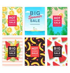 hot big summer sale flyer set collection vector image