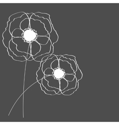 Poppies Flower Background vector image