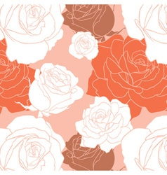 Red Rose Seamless Pattern vector image