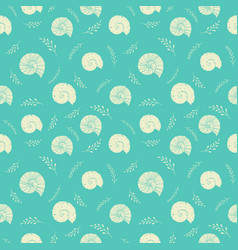 seamless background with sea shells in sketch vector image vector image
