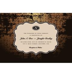wedding invites vector image