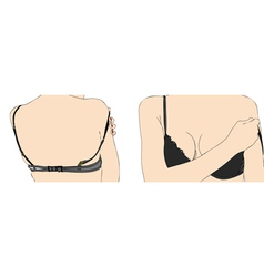 Woman with bra vector image vector image