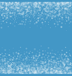 abstract pattern of falling snowflakes vector image