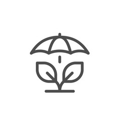 Agricultural insurance line icon vector