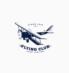 Airplane logo vector