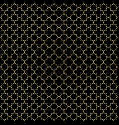Black and gold seamless pattern background vector