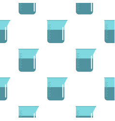 Blue measuring cup with water pattern seamless vector