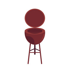 Cartoon barbecue grill icon isolated vector