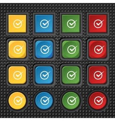 Check mark sign icon Checkbox button Set colur vector image