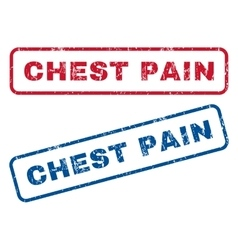Chest Pain Rubber Stamps vector image