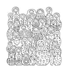 Collection of russian nesting dolls matryoshka vector