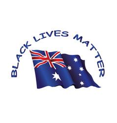 commonwealth australia black lives matter vector image