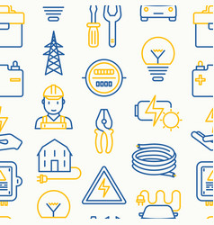 Electricity seamless pattern vector