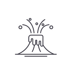 eruption line icon concept eruption linear vector image