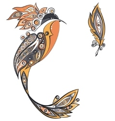 Ethnic ornament bird vector image