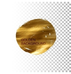 Golden paint stain banner vector