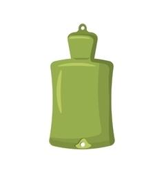 Green rubber warmer icon cartoon style vector image