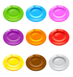 Group of shiny colorful round candy vector