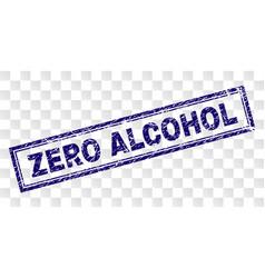 Grunge zero alcohol rectangle stamp vector