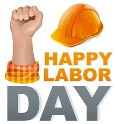 Happy Labor Day Template greeting card vector image