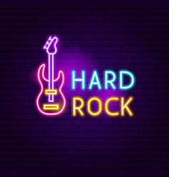 hard rock neon sign vector image