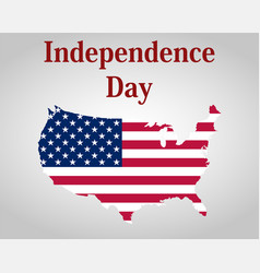 Independence day in united states america vector