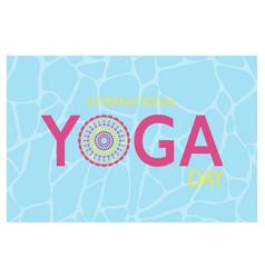 International yoga day banner vector