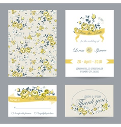 Invitation or Congratulation Card Set vector image