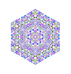 Isolated colorful geometrical abstract flower vector