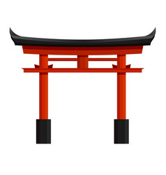 Japanese red torii gate graphic vector