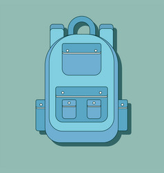large hiking backpack in flat design vector image