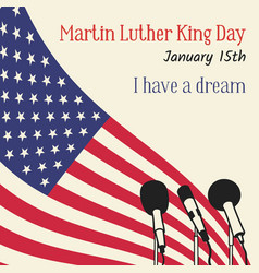 martin luther king day in usa vector image