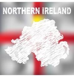 North Irish Abstract Map vector image