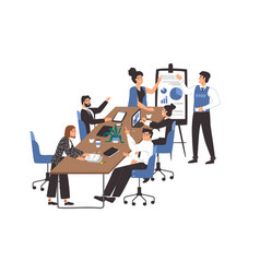office workplace concept diverse men and women vector image